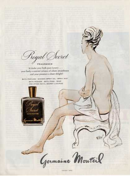 Germaine Monteil Royal Secret Bath Fragrance Ad T (1967)