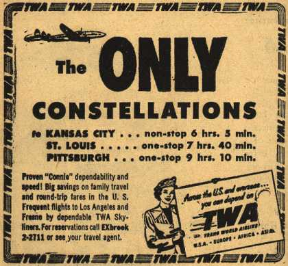 Trans World Airline's Constellation flights – The Only Constellations (1948)