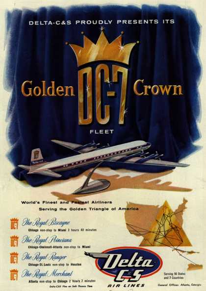 Delta C&S's DC-7 Airliners – Delta-C&S Proudly Presents Its Golden DC-7 Crown Fleet (1954)