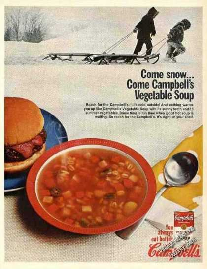 Campbell's Vegetable Soup Large (1967)
