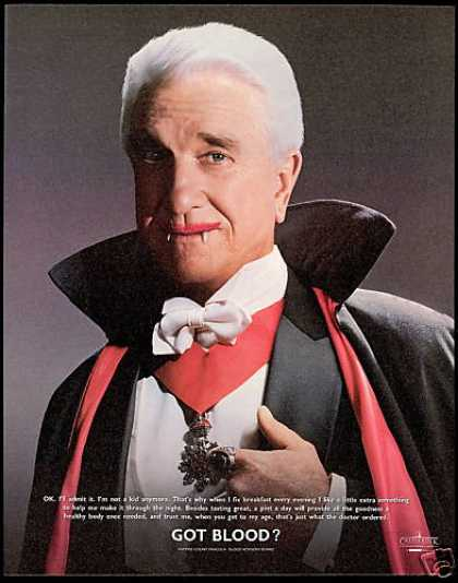 Leslie Nielsen Count Dracula Blood Board (1996)