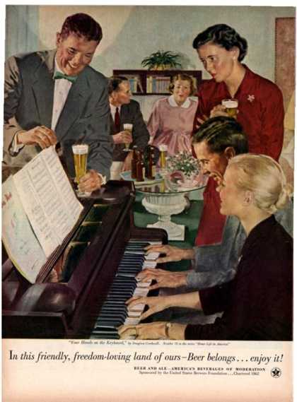 Beer Belongs Piano Lessons Douglass Crockwell (1953)