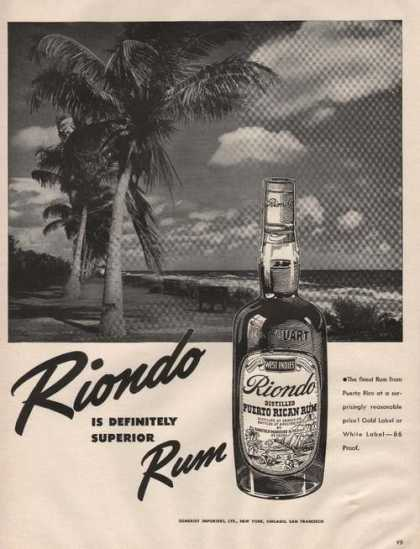 Riondo Is Definitely Superior Rum (1942)