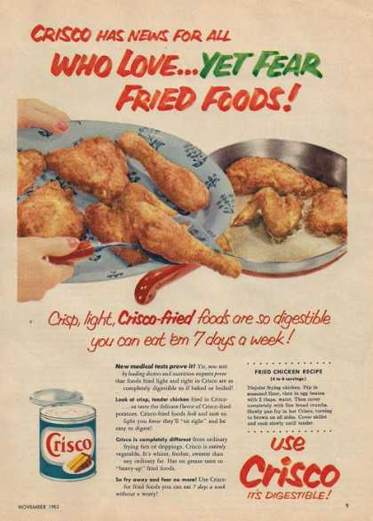 Crisco Its Digestible Oil (1953)