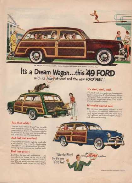 Dream Wagon Heart of Steel Ford Car Print (1949)