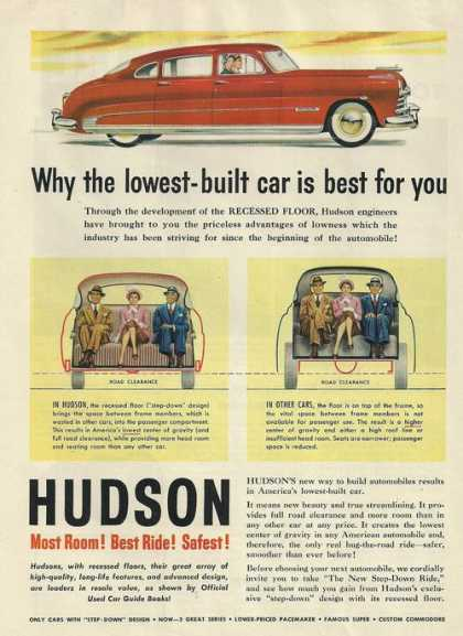 Hudson Most Room Best Ride Safest Car Prin (1950)