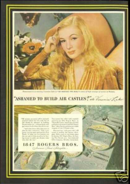 Veronica Lake Photo Rogers Bros Silverplate (1943)