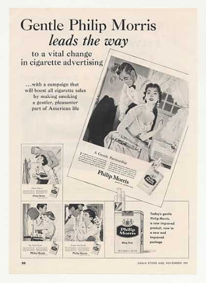 Philip Morris Cigarette Smoking Gentler Trade (1955)