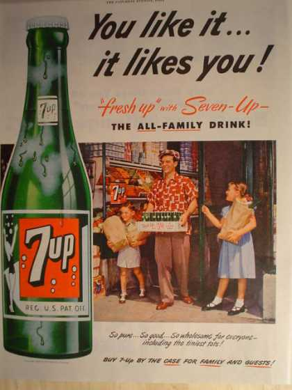 "7 UP ""You like it…it likes you (1952)"
