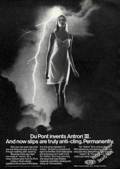 Dupont Invents Antron Iii Anti-cling Fashion (1970)