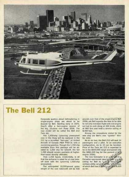 Bell 212 Photo Collectible Aircraft (1969)