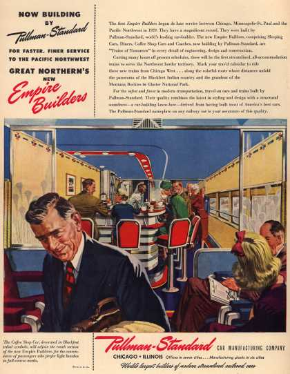 Pullman-Standard Car Manufacturing Company's Empire Builder Railroad Cars – Now Building by Pullman-Standard (1946)