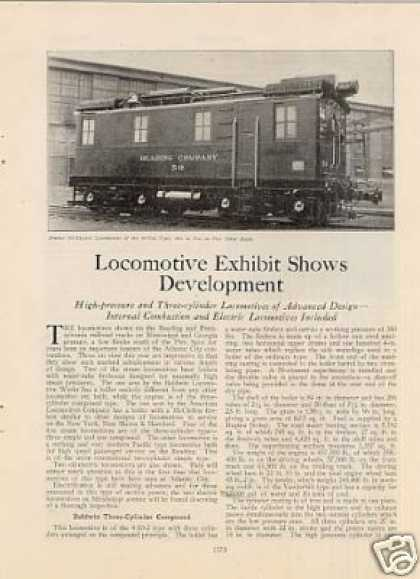 """Locomotive Exhibit Shows Development"" Article/a C (1926)"