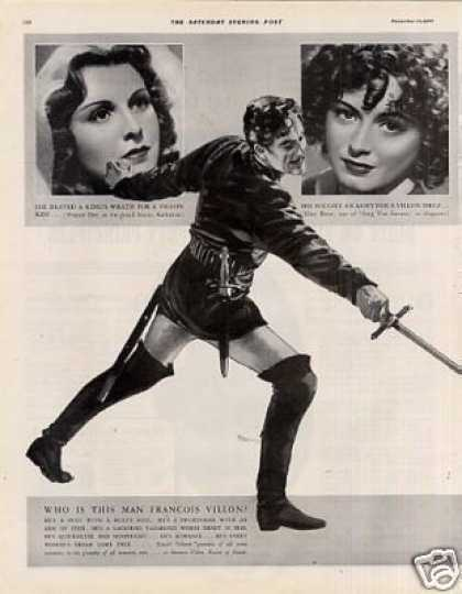 "Movie Ad ""If I Were King"" Ronald Colman (1938)"