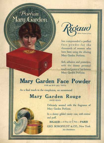 Rigaud's rouge – Parfum Mary Garden (1918)