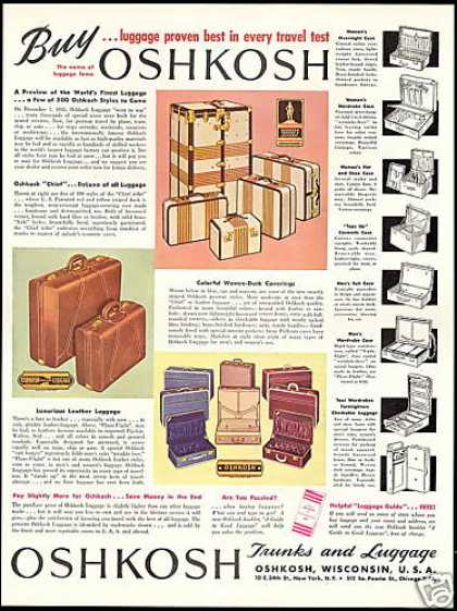 Oshkosh Trucks & Luggage Vintage (1946)