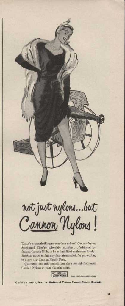 Not Just Nylons But Cannon Nylons (1946)