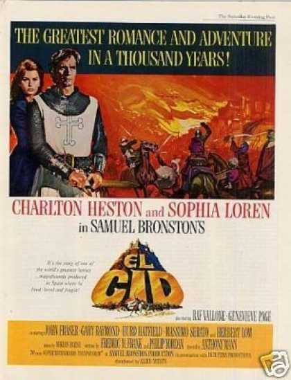 "Movie Ad ""El Cid"" Charlton Heston (1961)"