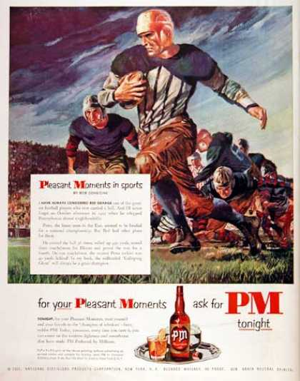 PM Whiskey – Red Grange (1951)