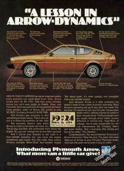 "Plymouth Arrow ""Arrow-dynamics (1976)"