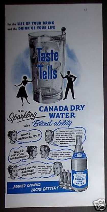 Canada Dry Club Soda Water (1953)