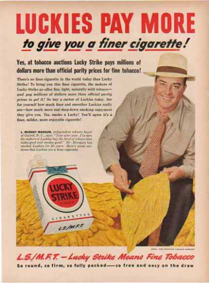 Lucky Strike Cigarettes – Oxford, N.C. (1949)