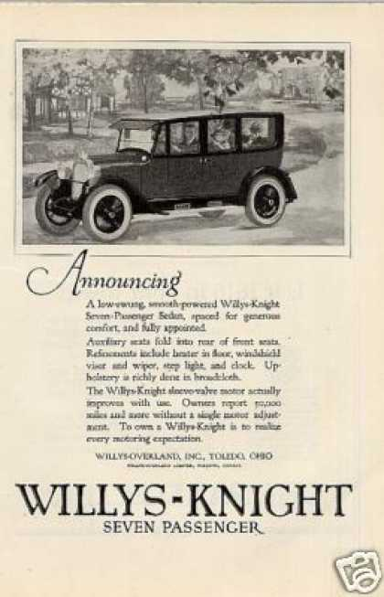 Willys-knight Seven Passenger Sedan (1923)