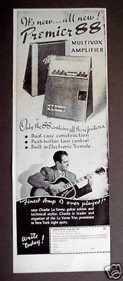 Multivox Amplifier Amp Music Musical (1948)