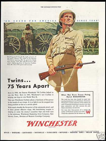 Winchester Carbine Rifle Won The West Win WWII (1944)
