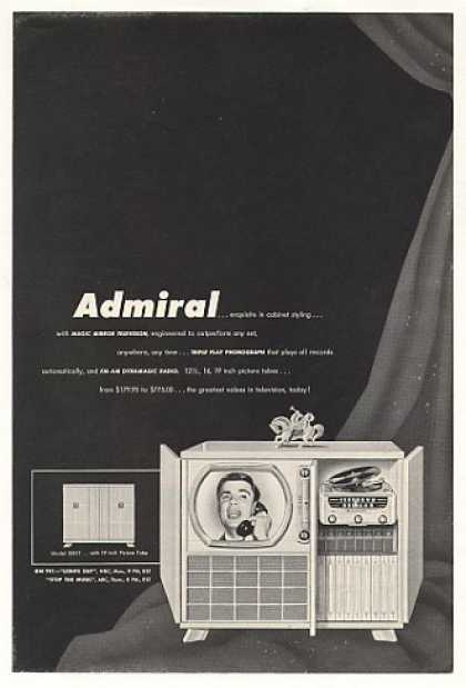 Admiral Model 39X17 TV Television Phonograph (1950)