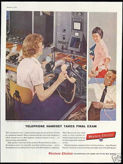 Western Electric Telephone Handset Testing (1958)