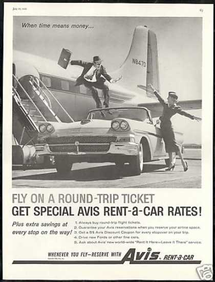 Ford Fairlane Convertible Avis Rent a Car (1958)
