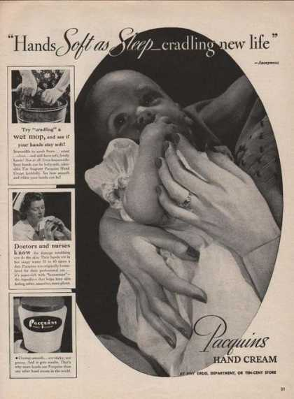 Pacquins Hand Cream Soft As Sleep (1946)