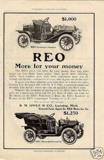 Reo Cars (1908)