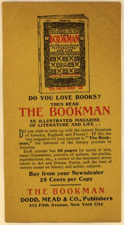 Dodd, Mead & Co., Pub.'s The Bookman – Do You Love Books? (1900)