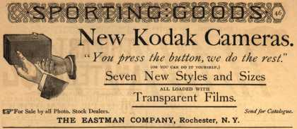 "Kodak – New Kodak Cameras. ""You press the button, we do the rest."" (1890)"