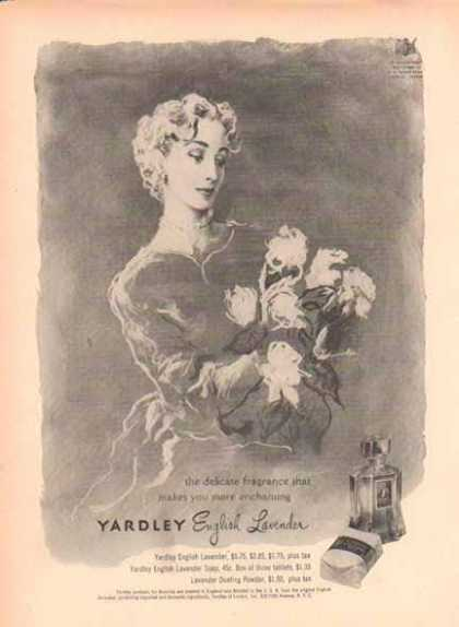 YARDLEY English Lavender – makes you more enchanting (1949)