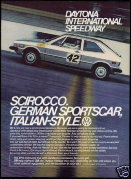 VW Volkswagen Scirocco Photo Daytona Car (1976)