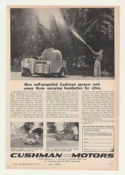 Cushman Motors Self-Propelled Sprayer (1964)