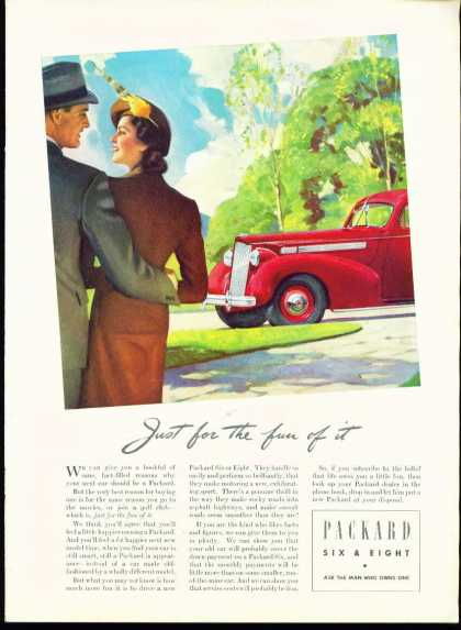 Packard Six & Eight C Ad Nice Color Illustrati (1937)