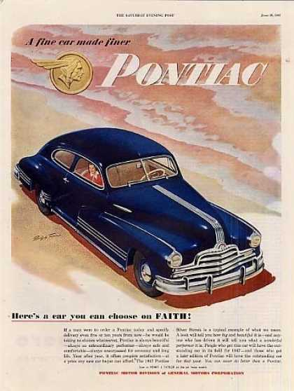 "Pontiac Car Ad ""Here's a Car You Can... (1947)"