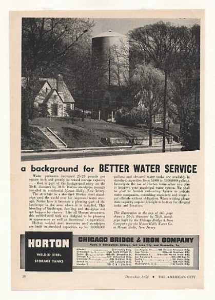 Mount Holly NJ Horton Water Standpipe Photo (1952)