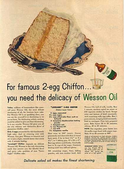 Wesson Oil's Oil (1956)