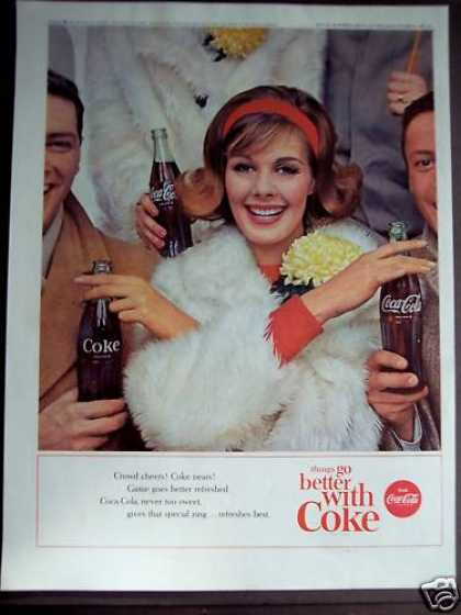 Coca-cola Soft Drink Soda Smiling Girl (1963)