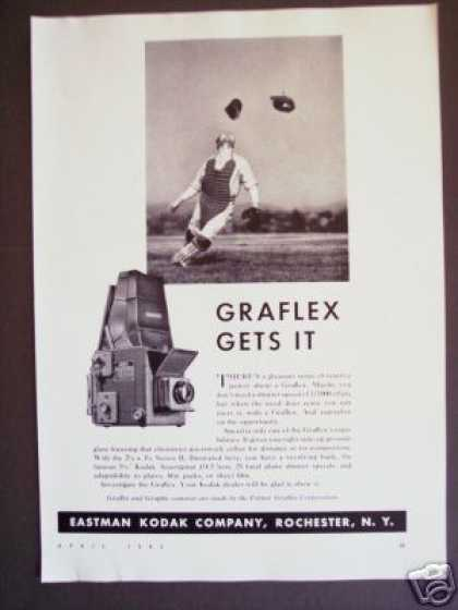 Baseball Photo Kodak Graflex Camera Original (1942)