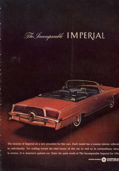 Rare Chrysler Imperial Convertible (1964)