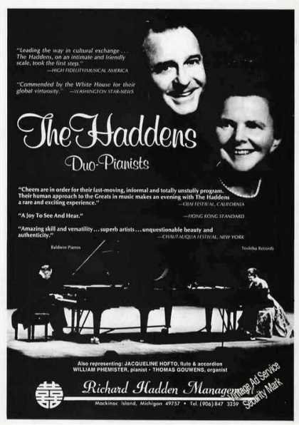 The Haddens Duo-pianists Photo Trade (1986)