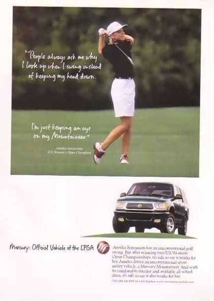 Sorenstam, Annika – Mercury Mountaineer – U.S. Women's Open Champion (1996)