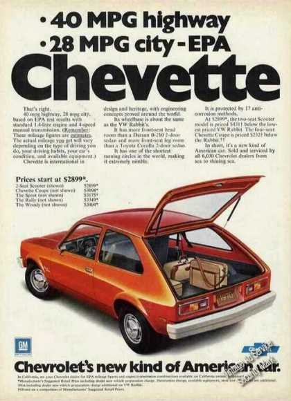 Chevrolet Chevette 40mpg Highway Car (1978)