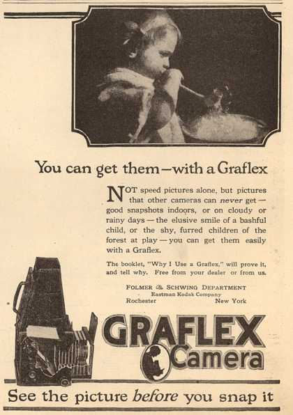 Kodak's Graflex cameras – You can get them – with a Graflex (1918)
